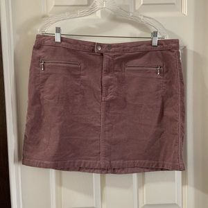 Mossimo Mauve Pink Corduroy Mini Skirt 16